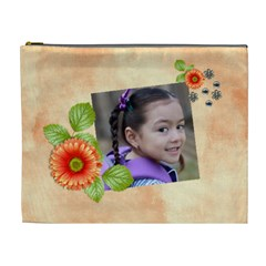 Cosmetic Bag (xl)  Orange Twist 7 By Jennyl   Cosmetic Bag (xl)   Kq7oyhjebpt6   Www Artscow Com Front