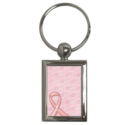 Breast Cancer Awareness   Key Chain By Mikki   Key Chain (rectangle)   95ysl24dscpf   Www Artscow Com Front