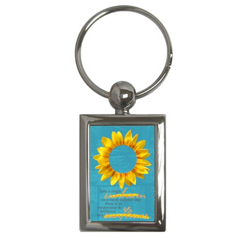 Sunflower Quote  Key Chain By Mikki   Key Chain (rectangle)   7awd7myb78zl   Www Artscow Com Front