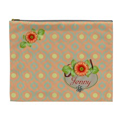 Cosmetic Bag (xl)  Orange Twist 12 By Jennyl   Cosmetic Bag (xl)   1tol7jdw74ux   Www Artscow Com Front