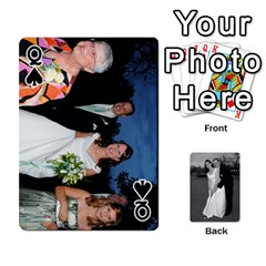 Queen Melissa & Patrick Wedding Photos By Patrick Newport   Playing Cards 54 Designs   T8otir7i53ux   Www Artscow Com Front - SpadeQ