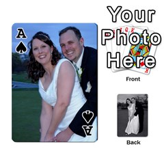 Ace Melissa & Patrick Wedding Photos By Patrick Newport   Playing Cards 54 Designs   T8otir7i53ux   Www Artscow Com Front - SpadeA