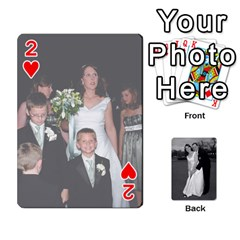 Melissa & Patrick Wedding Photos By Patrick Newport   Playing Cards 54 Designs   T8otir7i53ux   Www Artscow Com Front - Heart2
