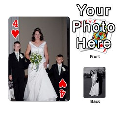 Melissa & Patrick Wedding Photos By Patrick Newport   Playing Cards 54 Designs   T8otir7i53ux   Www Artscow Com Front - Heart4
