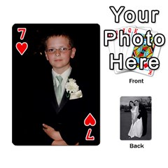 Melissa & Patrick Wedding Photos By Patrick Newport   Playing Cards 54 Designs   T8otir7i53ux   Www Artscow Com Front - Heart7