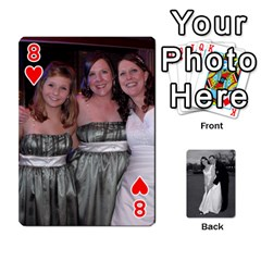 Melissa & Patrick Wedding Photos By Patrick Newport   Playing Cards 54 Designs   T8otir7i53ux   Www Artscow Com Front - Heart8