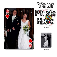 Melissa & Patrick Wedding Photos By Patrick Newport   Playing Cards 54 Designs   T8otir7i53ux   Www Artscow Com Front - Heart9
