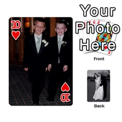 Melissa & Patrick Wedding Photos By Patrick Newport   Playing Cards 54 Designs   T8otir7i53ux   Www Artscow Com Front - Heart10