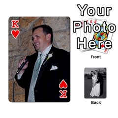 King Melissa & Patrick Wedding Photos By Patrick Newport   Playing Cards 54 Designs   T8otir7i53ux   Www Artscow Com Front - HeartK