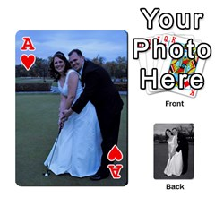 Ace Melissa & Patrick Wedding Photos By Patrick Newport   Playing Cards 54 Designs   T8otir7i53ux   Www Artscow Com Front - HeartA
