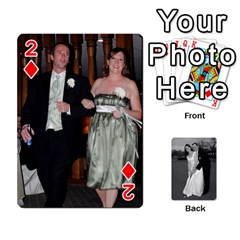 Melissa & Patrick Wedding Photos By Patrick Newport   Playing Cards 54 Designs   T8otir7i53ux   Www Artscow Com Front - Diamond2