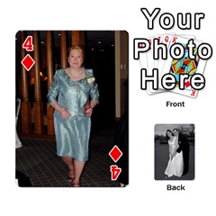 Melissa & Patrick Wedding Photos By Patrick Newport   Playing Cards 54 Designs   T8otir7i53ux   Www Artscow Com Front - Diamond4