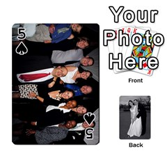 Melissa & Patrick Wedding Photos By Patrick Newport   Playing Cards 54 Designs   T8otir7i53ux   Www Artscow Com Front - Spade5