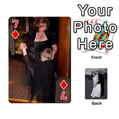 Melissa & Patrick Wedding Photos By Patrick Newport   Playing Cards 54 Designs   T8otir7i53ux   Www Artscow Com Front - Diamond7