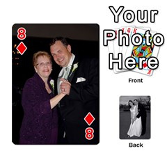 Melissa & Patrick Wedding Photos By Patrick Newport   Playing Cards 54 Designs   T8otir7i53ux   Www Artscow Com Front - Diamond8
