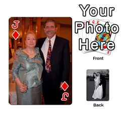 Jack Melissa & Patrick Wedding Photos By Patrick Newport   Playing Cards 54 Designs   T8otir7i53ux   Www Artscow Com Front - DiamondJ