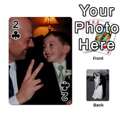 Melissa & Patrick Wedding Photos By Patrick Newport   Playing Cards 54 Designs   T8otir7i53ux   Www Artscow Com Front - Club2