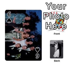 Melissa & Patrick Wedding Photos By Patrick Newport   Playing Cards 54 Designs   T8otir7i53ux   Www Artscow Com Front - Spade6