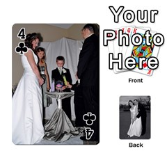 Melissa & Patrick Wedding Photos By Patrick Newport   Playing Cards 54 Designs   T8otir7i53ux   Www Artscow Com Front - Club4