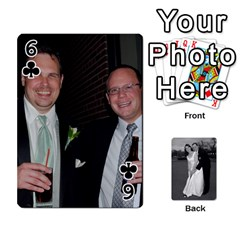 Melissa & Patrick Wedding Photos By Patrick Newport   Playing Cards 54 Designs   T8otir7i53ux   Www Artscow Com Front - Club6