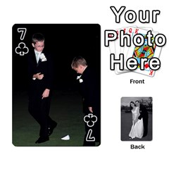 Melissa & Patrick Wedding Photos By Patrick Newport   Playing Cards 54 Designs   T8otir7i53ux   Www Artscow Com Front - Club7