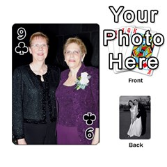 Melissa & Patrick Wedding Photos By Patrick Newport   Playing Cards 54 Designs   T8otir7i53ux   Www Artscow Com Front - Club9