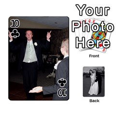 Melissa & Patrick Wedding Photos By Patrick Newport   Playing Cards 54 Designs   T8otir7i53ux   Www Artscow Com Front - Club10