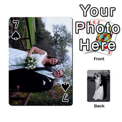Melissa & Patrick Wedding Photos By Patrick Newport   Playing Cards 54 Designs   T8otir7i53ux   Www Artscow Com Front - Spade7