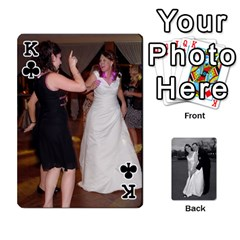 King Melissa & Patrick Wedding Photos By Patrick Newport   Playing Cards 54 Designs   T8otir7i53ux   Www Artscow Com Front - ClubK