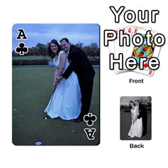 Ace Melissa & Patrick Wedding Photos By Patrick Newport   Playing Cards 54 Designs   T8otir7i53ux   Www Artscow Com Front - ClubA
