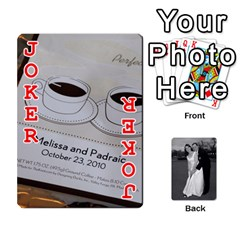 Melissa & Patrick Wedding Photos By Patrick Newport   Playing Cards 54 Designs   T8otir7i53ux   Www Artscow Com Front - Joker2