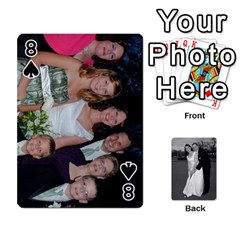 Melissa & Patrick Wedding Photos By Patrick Newport   Playing Cards 54 Designs   T8otir7i53ux   Www Artscow Com Front - Spade8