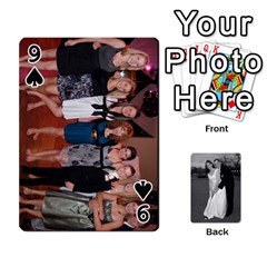 Melissa & Patrick Wedding Photos By Patrick Newport   Playing Cards 54 Designs   T8otir7i53ux   Www Artscow Com Front - Spade9