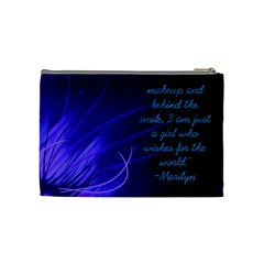 Blue Marilyn Monroe Quote Bag By Christy Sinko   Cosmetic Bag (medium)   W4nr2gk9kta4   Www Artscow Com Back