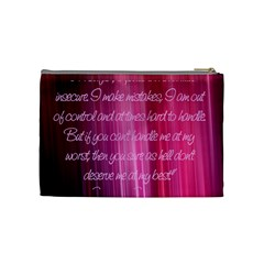 Pink Marilyn Monroe Quote Bag By Christy Sinko   Cosmetic Bag (medium)   Sttxmie90m6g   Www Artscow Com Back