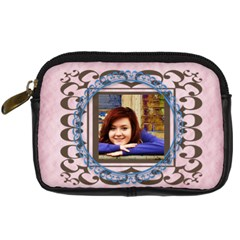 Framed Camera Case Pink By Amanda Bunn   Digital Camera Leather Case   Zwet1ggls25y   Www Artscow Com Front