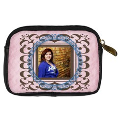 Framed Camera Case Pink By Amanda Bunn   Digital Camera Leather Case   Zwet1ggls25y   Www Artscow Com Back