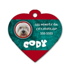 Dog Tag By Brookieadkins Yahoo Com   Dog Tag Heart (two Sides)   Zasly83ptuwu   Www Artscow Com Front