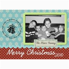 Pretty Merry Christmas Card By Martha Meier   5  X 7  Photo Cards   Rdgrstu1zqbj   Www Artscow Com 7 x5 Photo Card - 9