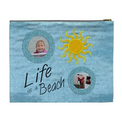 Beach Cosmetic Bag Xl By Danielle Christiansen   Cosmetic Bag (xl)   K1kkezhskb18   Www Artscow Com Back