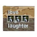 desert camo love & laughter extra large cosmetic bag - Cosmetic Bag (XL)