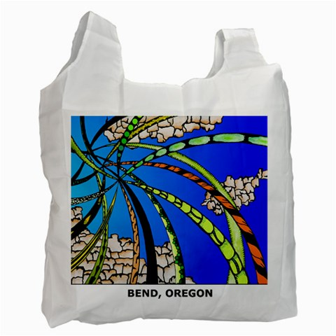 Pinwheel Pine By Joni Olsen   Recycle Bag (one Side)   93gmuonhhkq0   Www Artscow Com Front