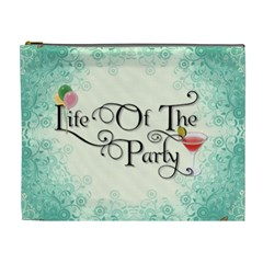 Life Of The Party Xl Cosmetic Bag By Lil    Cosmetic Bag (xl)   Ut7b8jwdhc2k   Www Artscow Com Front