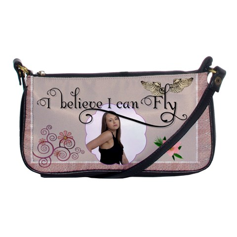 I Believe I Can Fly Shoulder Clutch Handbag By Lil    Shoulder Clutch Bag   Hxi5nxqz2v3t   Www Artscow Com Front