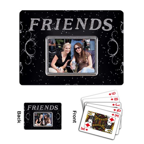 Friends Playing Cards By Lil    Playing Cards Single Design   Zq3lrc06xyfb   Www Artscow Com Back
