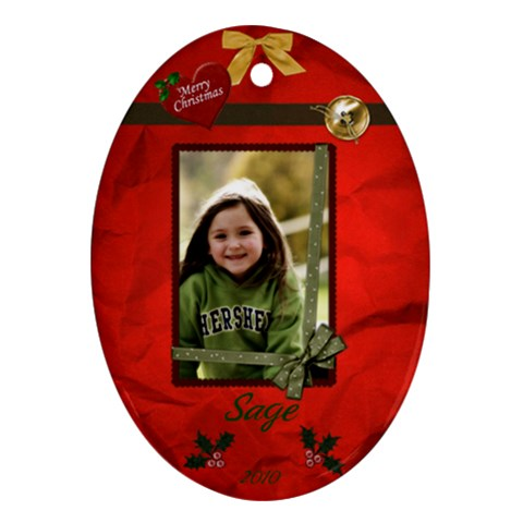 Sage   Xmas Ornament By Tammy Baker   Ornament (oval)   8qbqr4nvmq11   Www Artscow Com Front