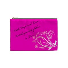 Faith Hope And Love By Rebecca Mccartney   Cosmetic Bag (medium)   Pfu4ypnd473z   Www Artscow Com Front