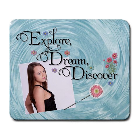 Explore, Dream, Discover Large Mousepad By Lil    Large Mousepad   X6v1aytusovt   Www Artscow Com Front