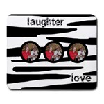 laughter n love zebra mousemat - Large Mousepad