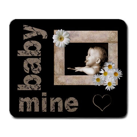 Baby Of Mine Daisy Heart Mousemat By Catvinnat   Large Mousepad   Ogp5ym8bs5lq   Www Artscow Com Front
